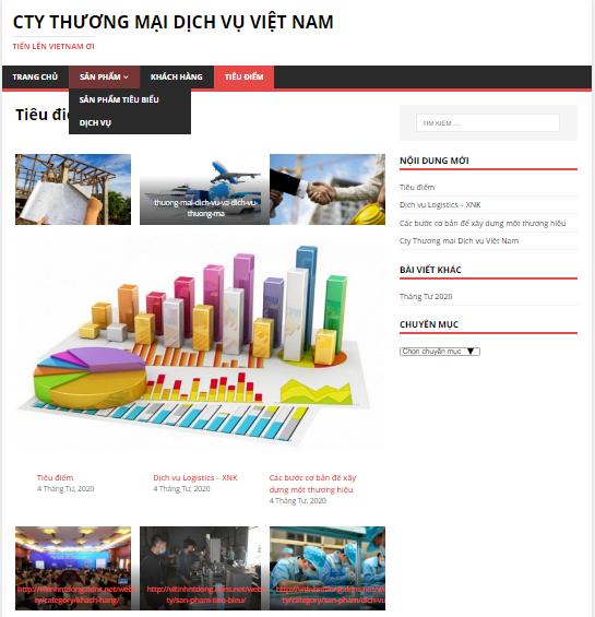 Mẫu Giới thiệu demo Web Cty, Cơ quan, Trường học…